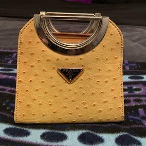 Brand new Prada ostrich skin purse